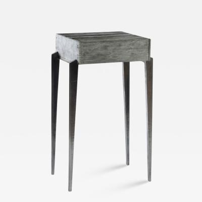 Gregory Nangle Aluminum Shack Side Table 2017