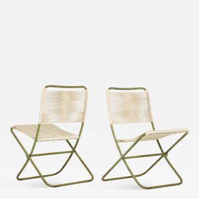 Greta Magnusson Grossman Exceedingly Rare Greta Grossman Folding Chairs
