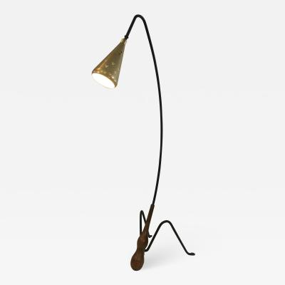 Greta Magnusson Grossman SUPERB MID CENTURY MODERNIST FLOOR LAMP IN THE MANNER OF GRETA GROSSMAN