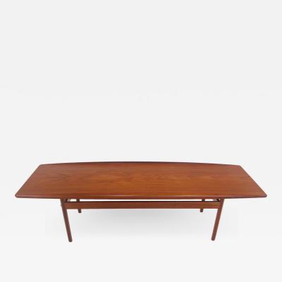 Grete Jalk Classic Scandinavian Modern Teak Coffee Table by Grete Jalk