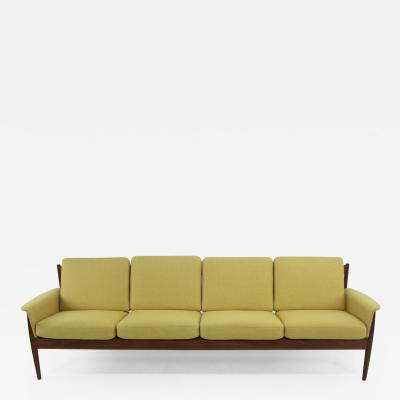 Grete Jalk Danish Modern Four Place Teak Sofa Designed by Grete Jalk