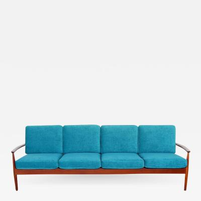 Grete Jalk Danish Modern Long Teak Sofa by Grete Jalk