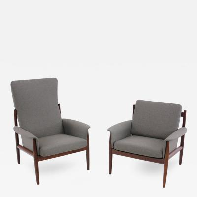 Grete Jalk Danish Modern Mama Papa Armchairs Designed by Grete Jalk