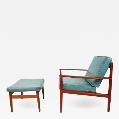 Grete Jalk Grete Jalk Lounge Chair and Ottoman