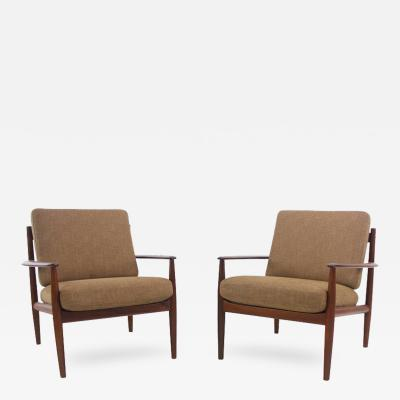 Grete Jalk Pair of Classic Danish Modern Armchairs Designed by Grete Jalk