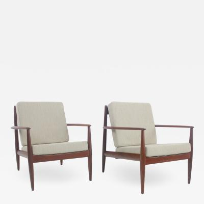 Grete Jalk Pair of Classic Scandinavian Modern Lounge Chairs Designed by Grete Jalk