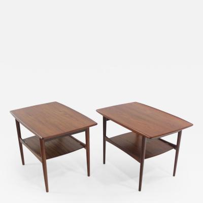 Grete Jalk Pair of Danish Modern Teak End Tables Designed by Grete Jalk