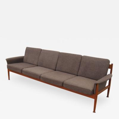 Grete Jalk Rare Four Seat Teak Sofa by Grete Jalk for France Sons