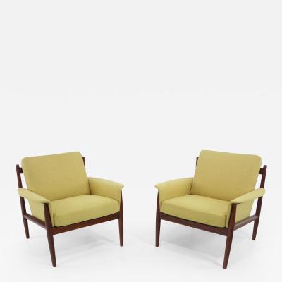 Grete Jalk Rare Pair of Danish Modern Teak Armchairs Designed by Grete Jalk
