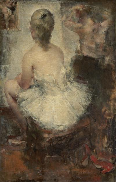 Grigory Gluckmann Seated Dancer