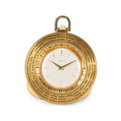 Gubelin World Timer Pocket Watch in 14K Gold Filled