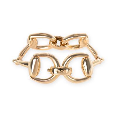 Gucci Large Horsebit Bracelet in 18KT Yellow Gold