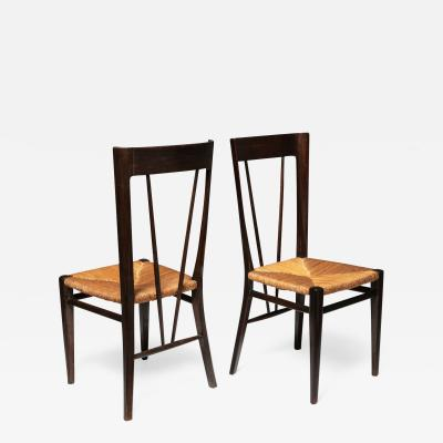 Guglielmo Pecorini Pair of Chairs by Guglielmo Pecorini for Casa e Giardino
