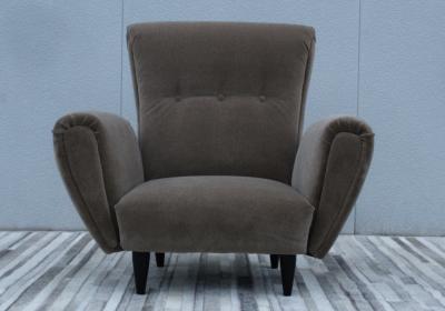 Guglielmo Ulrich 1940s Art Deco Italian Lounge Chairs