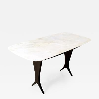 Guglielmo Ulrich Coffee Table by Guglielmo Ulrich with Carrara Marble Top Italy 1940s 1950s
