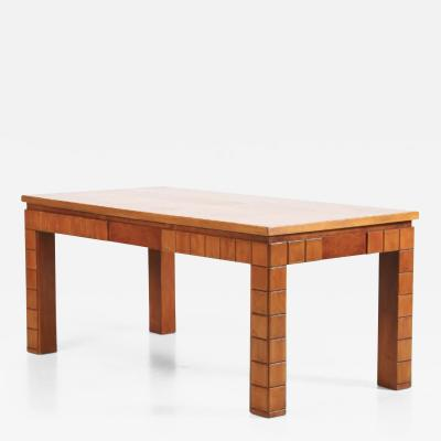 Guglielmo Ulrich Guglielmo Ulrich Italian Dining Table MidCentury in walnut brown 1950s