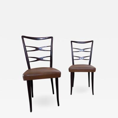 Guglielmo Ulrich Guglielmo Ulrich Italian Mid Century Modern Set of 6 Chairs 1940s