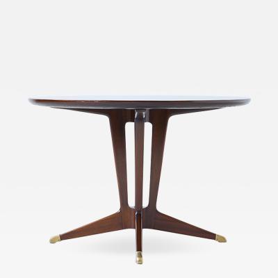 Guglielmo Ulrich Guglielmo Ulrich very elegant 1940s round center table in mahogany