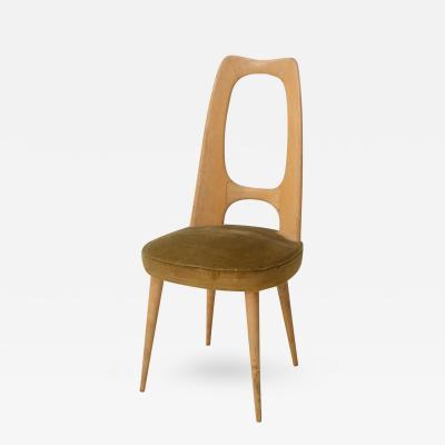 Guglielmo Ulrich Italian Modern Fruitwood Side Desk Chair Guglielmo Ulrich