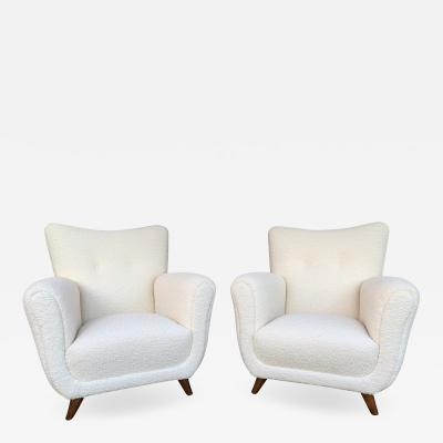 Guglielmo Ulrich Pair of Armchairs by Guglielmo Ulrich Italy 1950s