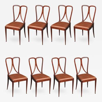 Guglielmo Ulrich Set of Eight Dining Chairs by Guglielmo Ulrich