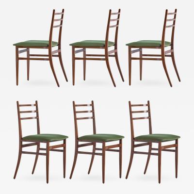 Guglielmo Ulrich Set of Six Guglielmo Ulrich Trieste Dining Chairs 1961