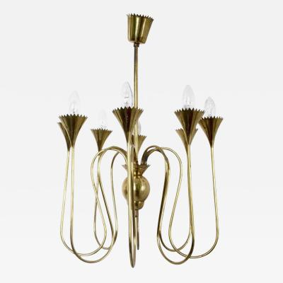 Guglielmo Ulrich Wonderful and Elegant Chandelier Highly Ascribable to Ulrich Italy 1940s