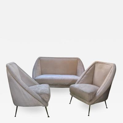 Guglielmo Veronesi Guglielmo Veronesi Settee with Two Lounge Chairs