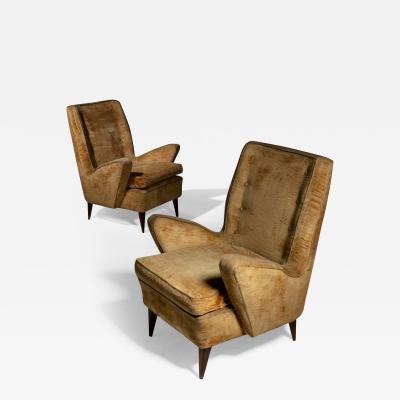 Guglielmo Veronesi Pair of Italian 60s Lounge Chairs