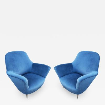 Guglielmo Veronesi Pair of Lounge Chairs by Veronesi for ISA Italy 1960s