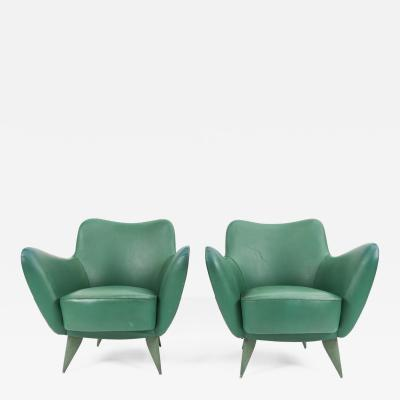 Guglielmo Veronesi Pair of Perla Lounge Chairs by Guglielmo Veronesi for ISA