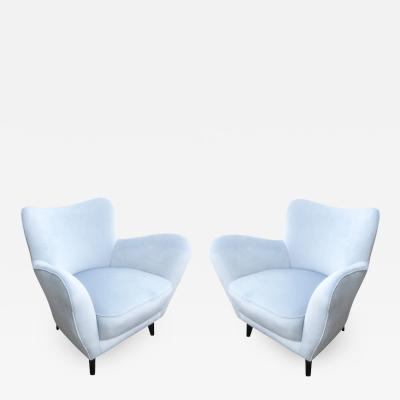 Guglielmo Veronesi Pair of Veronesi Armchairs for ISA Italy 1960s