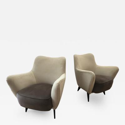 Guglielmo Veronesi Stylish Pair of Lounge Chairs by G Veronesi