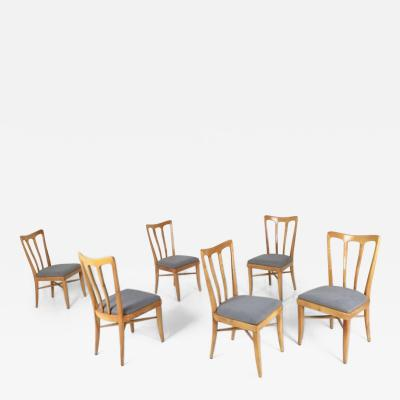 Gugliemo Ulrich Set of Six Cherry Chairs Attributed to Guglielmo Ulrich Italy 1940s