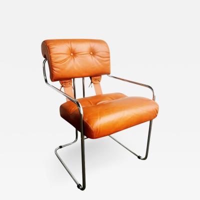 Guido Faleschini Leather Tucroma Chair by Guido Faleschini for i4 Mariani