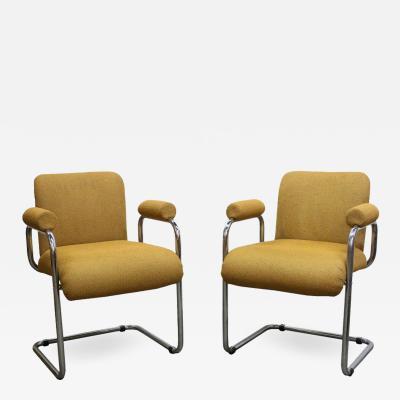 Guido Faleschini Pair of Occasional Chairs by Guido Faleschini for Mariani
