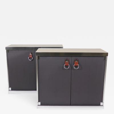 Guido Faleschini Pair of Two Door Cabinets