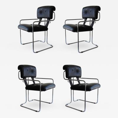 Guido Faleschini Set of Four Pace Tucroma Chairs