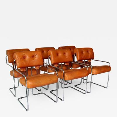 Guido Faleschini Set of Six Guido Faleschini Tucroma Chairs