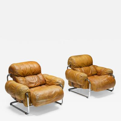 Guido Faleschini Tucroma Lounge Chairs set By Guido Faleschini for Pace Collection 1970s