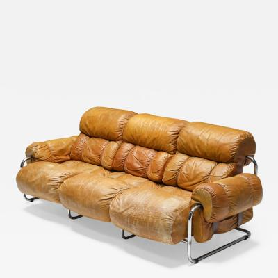 Guido Faleschini Tucroma Three Seater Sofa Set By Guido Faleschini for Pace Collection 1970s