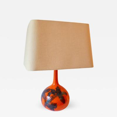 Guido Gambone Brilliantly Colorful Table Ceramic Table Lamp by Guido Gambone