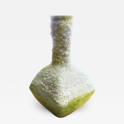 Guido Gambone Chartreuse Special Glaze Vase by Guido Gambone