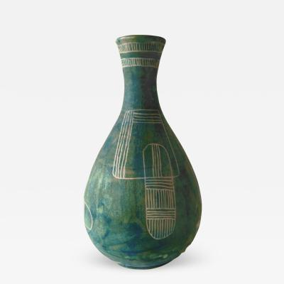 Guido Gambone Green Vase by Guido Gambone