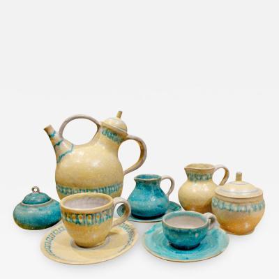 Guido Gambone Guido Gambone 33 Piece Ceramic Coffee and Espresso Set 1950s