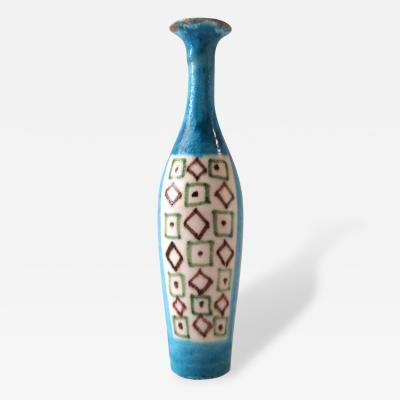 Guido Gambone Guido Gambone Ceramic Bottle Signed and Stamped Italy 1960