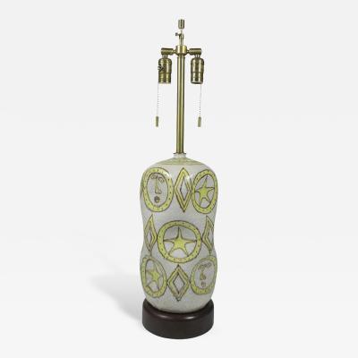 Guido Gambone Guido Gambone Ceramic Table Lamp Italian 1950s