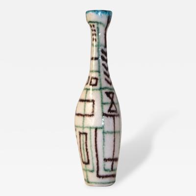 Guido Gambone Guido Gambone Signed Ceramic Bottle Italy Circa 1960