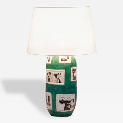 Guido Gambone Guido Gambone Signed Ceramic Table Lamp Circa 1950 Italy
