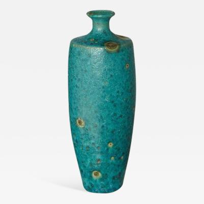 Guido Gambone Large Italian Modern Ceramic Fat Lava Glaze Vase by Guido Gambone